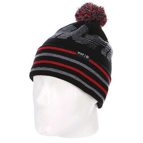 Шапка с помпоном Huf 10K Beanie Black шапка с помпоном k1x bommel beanie black red
