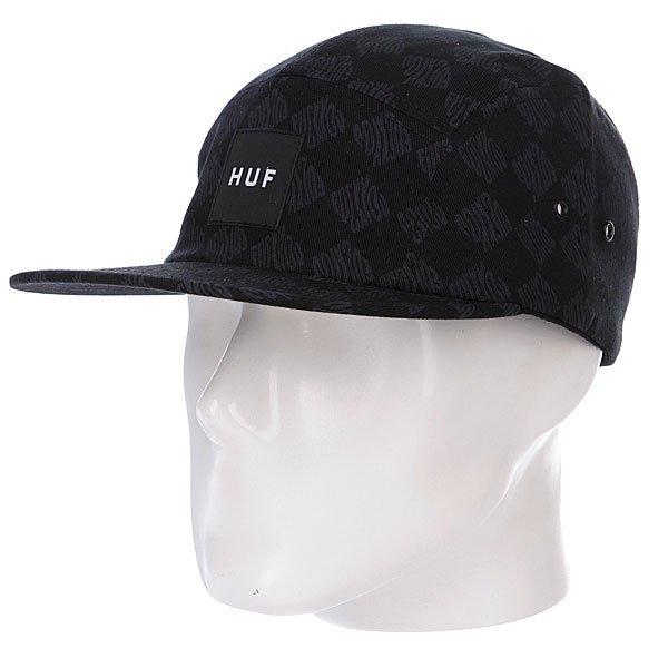 Бейсболка Huf Luxe Volley Black<br><br>Цвет: серый,черный<br>Тип: Бейсболка пятипанелька<br>Возраст: Взрослый<br>Пол: Мужской