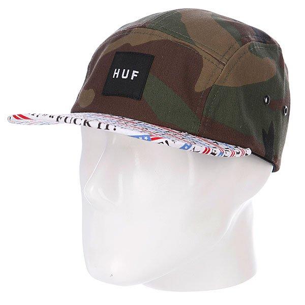Бейсболка Huf Fuck It Volley Camo<br><br>Цвет: белый,зеленый,черный,камуфляжный<br>Тип: Бейсболка пятипанелька<br>Возраст: Взрослый<br>Пол: Мужской