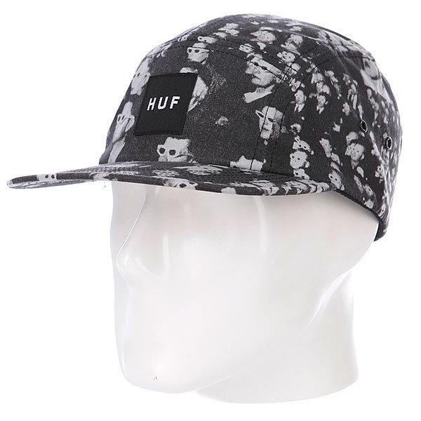 Бейсболка Huf 3D Box Logo Volley Silver<br><br>Цвет: белый,серый<br>Тип: Бейсболка пятипанелька<br>Возраст: Взрослый<br>Пол: Мужской