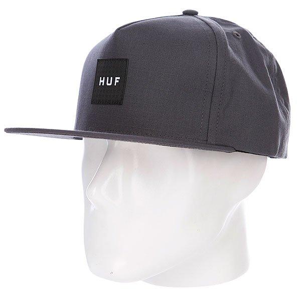 Бейсболка Huf Starbox Logo Charcoal<br><br>Цвет: серый<br>Тип: Бейсболка с прямым козырьком<br>Возраст: Взрослый<br>Пол: Мужской