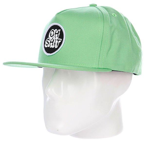 Бейсболка Huf Oh Shit Lime<br><br>Цвет: зеленый<br>Тип: Бейсболка с прямым козырьком<br>Возраст: Взрослый<br>Пол: Мужской