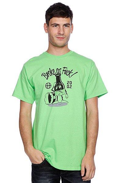 Футболка Huf Broke As Fuck Tee Lime<br><br>Цвет: зеленый<br>Тип: Футболка<br>Возраст: Взрослый<br>Пол: Мужской