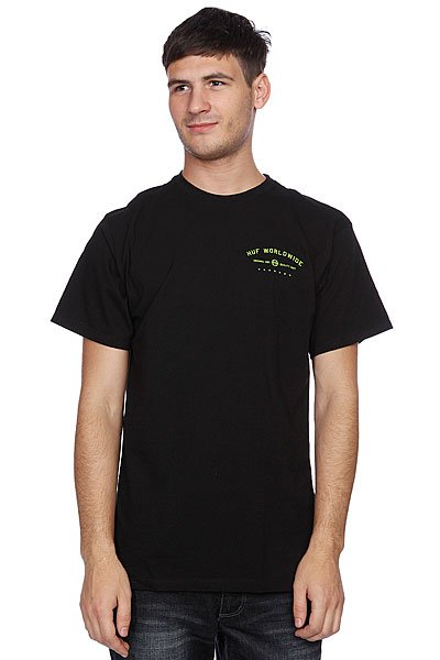 Футболка Huf Full Steam Tee Black футболка huf last generation tee black