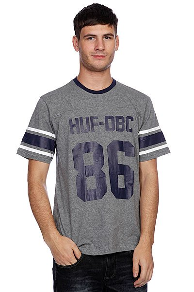 Футболка Huf Wreaking Havoc Football Jersey Gray Heather майка huf 12 galaxies tank navy heather