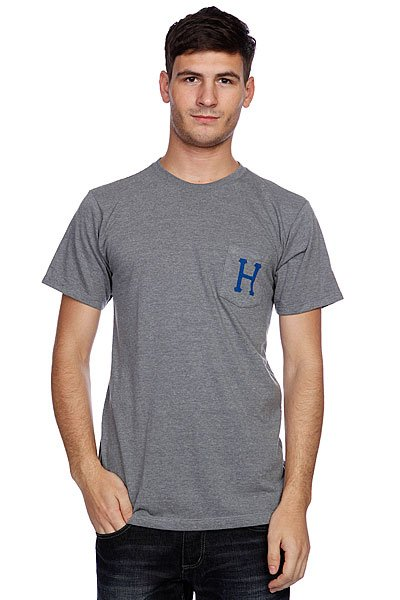Футболка Huf Classic H Pocket Tee Gray Heather<br><br>Цвет: серый<br>Тип: Футболка<br>Возраст: Взрослый<br>Пол: Мужской
