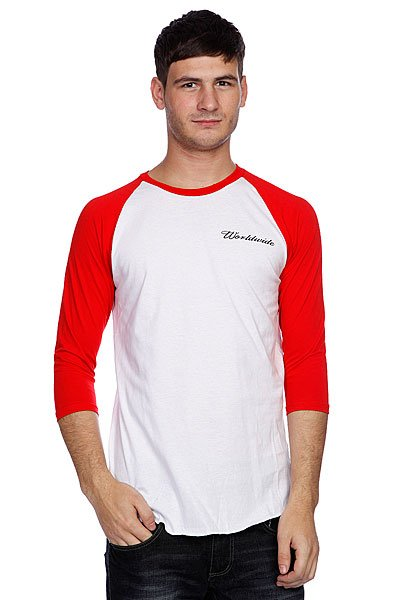 Лонгслив Huf Domestic Raglan White/Red