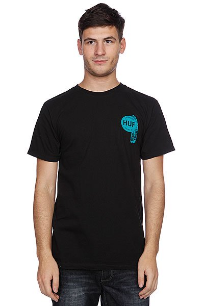 Футболка Huf Native Tee Black/Blue футболка huf last generation tee black