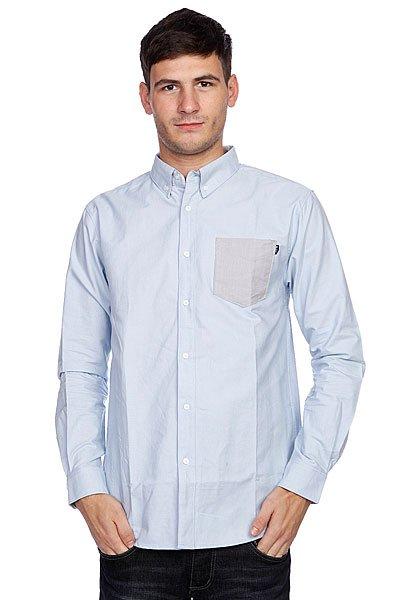 Рубашка Huf Rushmore Oxford L/S Shirt Blue<br><br>Цвет: голубой<br>Тип: Рубашка<br>Возраст: Взрослый<br>Пол: Мужской