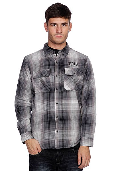 Рубашка утепленная Huf Alameda Quilted Premium Flannel Black/Charcoal