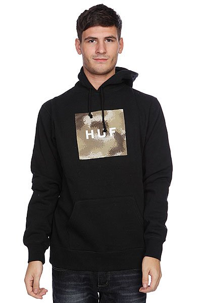������� Huf Box Logo Fill Spray Camo Pullover Black