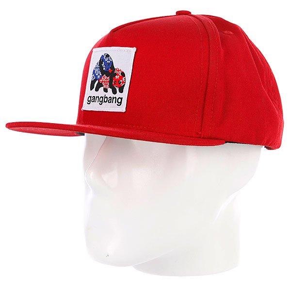 Бейсболка Enjoi Gangbang Red<br><br>Цвет: красный<br>Тип: Бейсболка с прямым козырьком<br>Возраст: Взрослый