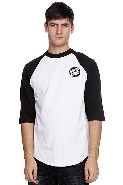 Лонгслив Santa Cruz Other Dot Raglan White/Black/Silver