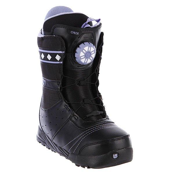 Ботинки для сноуборда женские Burton Chloe Black/Purple Proskater.ru 6949.000