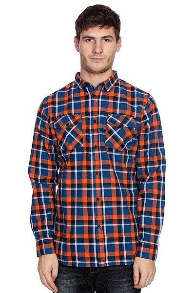 Рубашка в клетку Globe Corsair Shirt Blue/Orange<br><br>Цвет: белый,оранжевый,синий<br>Тип: Рубашка в клетку<br>Возраст: Взрослый<br>Пол: Мужской