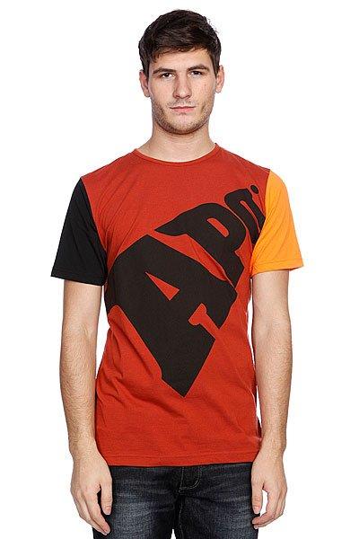 Футболка Apo Bold Regular Rust<br><br>Цвет: бордовый,оранжевый,черный<br>Тип: Футболка<br>Возраст: Взрослый<br>Пол: Мужской