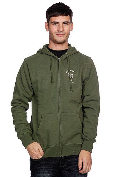 Толстовка Huf Wartini Zip Hood Army<br><br>Цвет: зеленый<br>Тип: Толстовка классическая<br>Возраст: Взрослый<br>Пол: Мужской