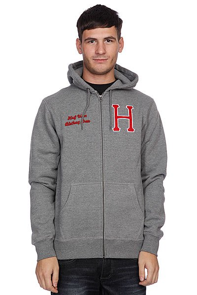 ��������� Huf Huf Usa Dbc Zip Up Premium Hood Gray Heather