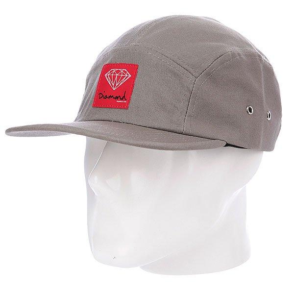 Бейсболка пятипанелька Diamond OG Sign 5 Panel Camp Hat Grey