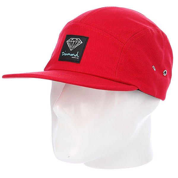 Бейсболка пятипанелька Diamond OG Sign 5 Panel Camp Hat Red