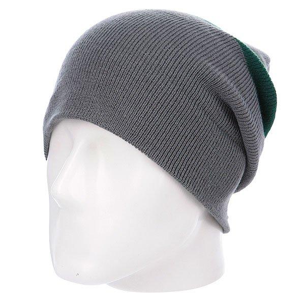 Шапка носок Diamond Cities Fold Beanie Grey/Green