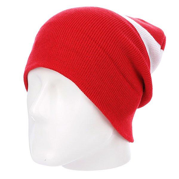 Шапка носок Diamond Cities Fold Beanie Red/White<br><br>Цвет: белый,красный<br>Тип: Шапка носок<br>Возраст: Взрослый