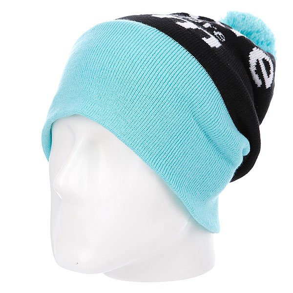 Шапка с помпоном Diamond I Am Fold Beanie Diamond Blue
