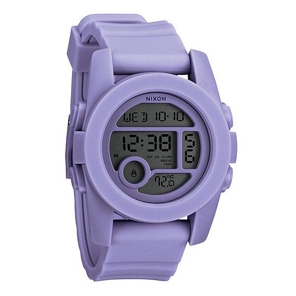 Часы Nixon Unit 40 Pastel PurpleНемного футуристичны, но максимально функциональны! Легко читаемый циферблат сообщит вам время, дату и температуруМеханизм:Электронный механизмФункции: датчик температуры, два времени, таймер обратного отсчета, , будильник, подсветкаКорпус:Ширина 49mm,Материал: поликарбонат,Водонепроницаемость с характеристикой 100 м (10 атмосфер),Усиленное минеральное стеклоРемешок:Материал: силикон,Застежка из поликарбоната.Ширина 24mm<br><br>Тип: Электронные часы<br>Возраст: Взрослый<br>Пол: Мужской
