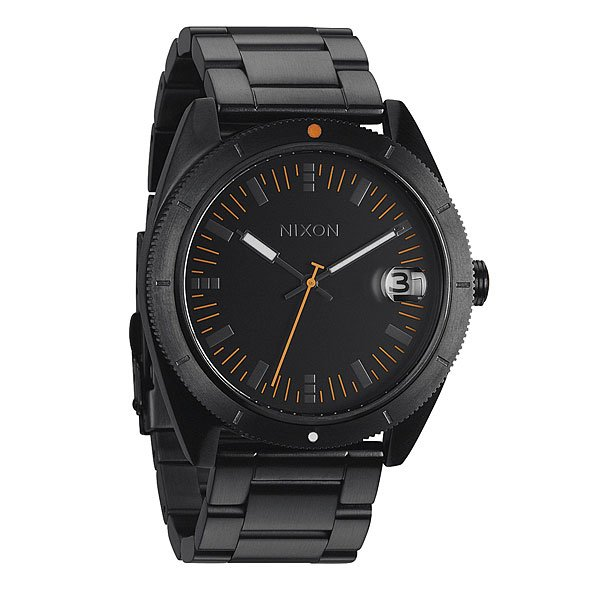 Часы Nixon Rover Ss Ii All Black/orange часы nixon re run leather all black