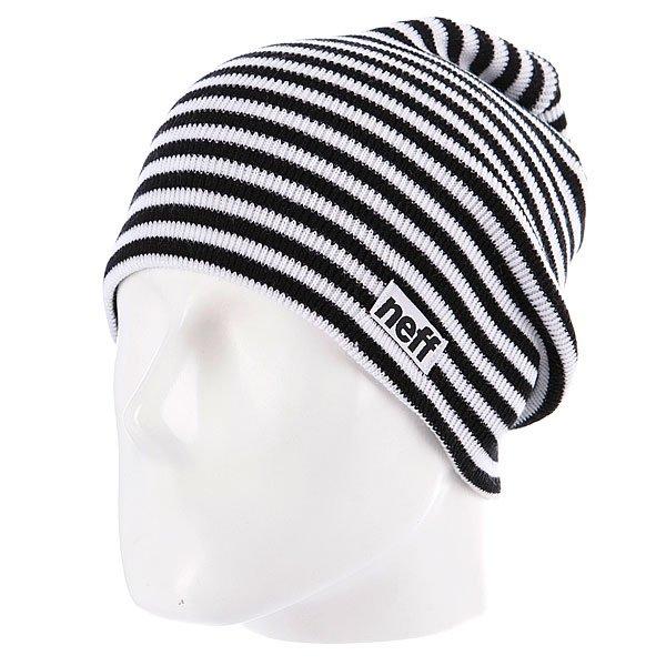 Шапка носок Neff Duo Stripe Black/White