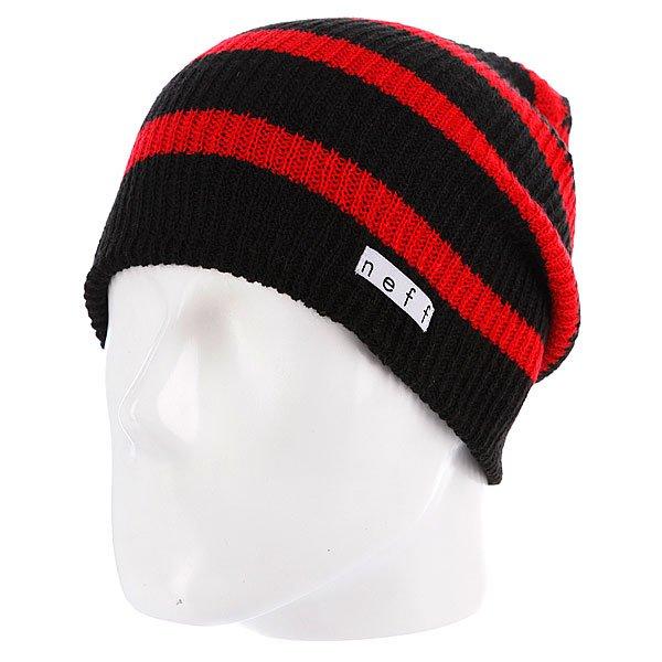 Шапка носок Neff Daily Stripe Black/Red<br><br>Цвет: красный,черный<br>Тип: Шапка носок<br>Возраст: Взрослый<br>Пол: Мужской