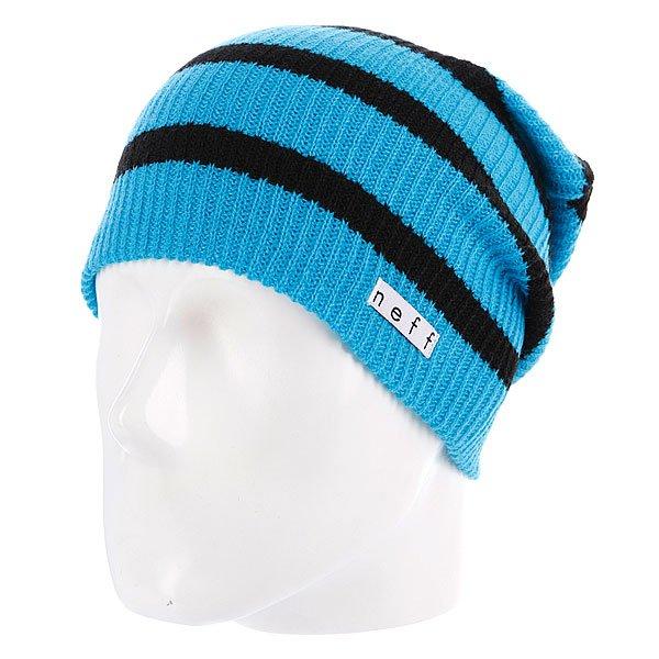 Шапка носок Neff Daily Stripe Cyan/Black<br><br>Цвет: синий,черный<br>Тип: Шапка носок<br>Возраст: Взрослый