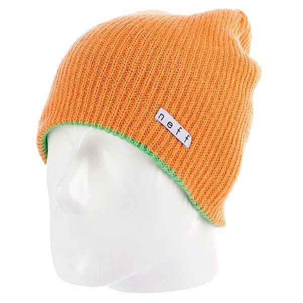 Шапка носок Neff Daily Reversible Slm/Orange<br><br>Цвет: зеленый,оранжевый<br>Тип: Шапка носок<br>Возраст: Взрослый