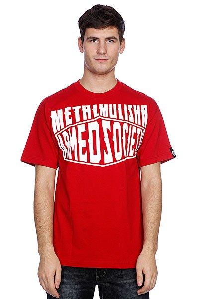 Футболка Metal Mulisha Boxed Cardinal<br><br>Цвет: красный<br>Тип: Футболка<br>Возраст: Взрослый<br>Пол: Мужской