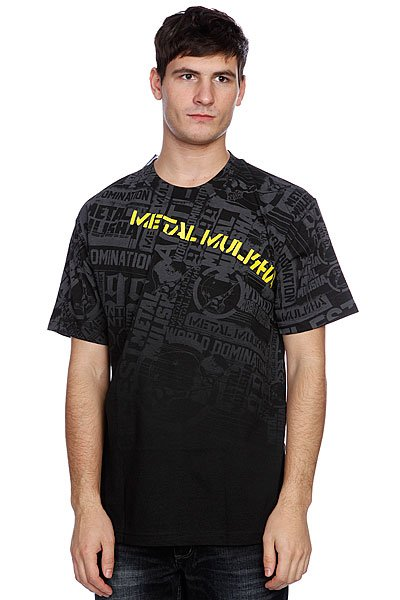Футболка Metal Mulisha Dread Black/Yellow Proskater.ru 1600.000