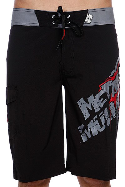 Шорты Metal Mulisha Boardshort Rousted Black metal mulisha толстовка metal mulisha deegan comp fleece black