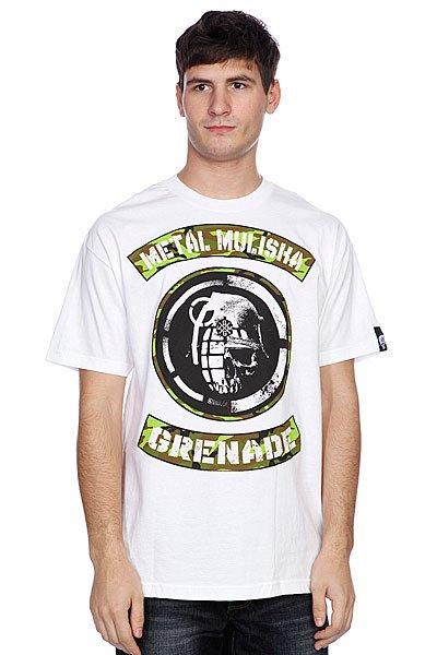 Футболка Metal Mulisha Mmxgg Face Off Optic White<br><br>Цвет: белый<br>Тип: Футболка<br>Возраст: Взрослый<br>Пол: Мужской