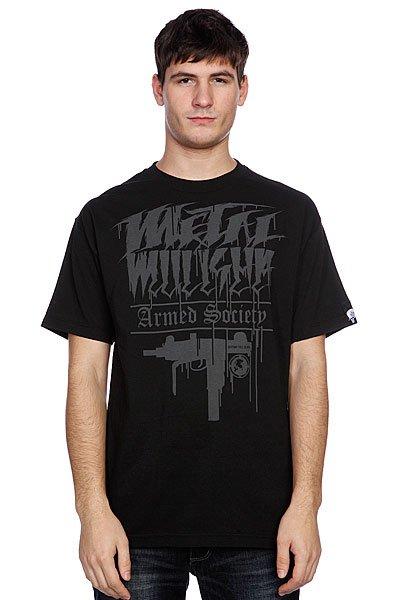 Футболка Metal Mulisha Uzi Black<br><br>Цвет: черный<br>Тип: Футболка<br>Возраст: Взрослый<br>Пол: Мужской