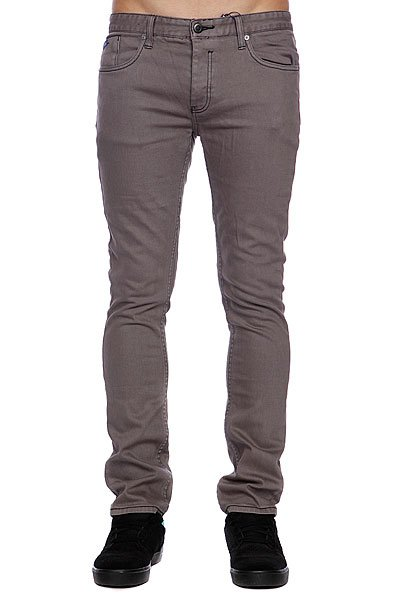 Штаны Etnies Slim Fit Denim Pant Grey jeans men s blue slim fit fashion denim pencil pant high quality hole brand youth pop male cotton casual trousers pant gent life