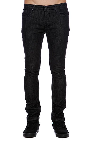 Джинсы прямые Etnies Slim Fit Denim Pant Black jeans men s blue slim fit fashion denim pencil pant high quality hole brand youth pop male cotton casual trousers pant gent life