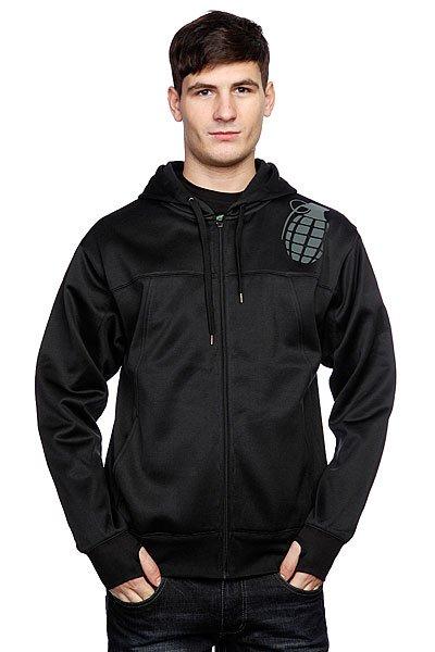Толстовка Grenade Tech Hoodie Black<br><br>Цвет: черный<br>Тип: Толстовка сноубордическая<br>Возраст: Взрослый<br>Пол: Мужской