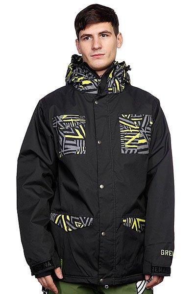 Куртка Grenade Mens Jacket Field Doom Vision/BlackПрикупите новую куртку для себя как раз к приближающемуся сезону холодов. Мы гарантируем – вы полюбите ее с первого взгляда.Характеристики:Критические швы проклеены влагозащитной лентой. Снегозащитная «юбка». Внутренний карман для маски. Карман для ски-пасса. Внутренние манжеты с прорезями для больших пальцев. Карман с платочком для маски. Утепленные карманы для согревания рук. Вентиляционные вставки подмышками на молнии. Эластичные снегозащитные гейтеры на манжетах.Внутренний тактильный карман для Iphone. Фасон: стандартный (regular fit).<br><br>Цвет: черный<br>Тип: Куртка утепленная<br>Возраст: Взрослый<br>Пол: Мужской