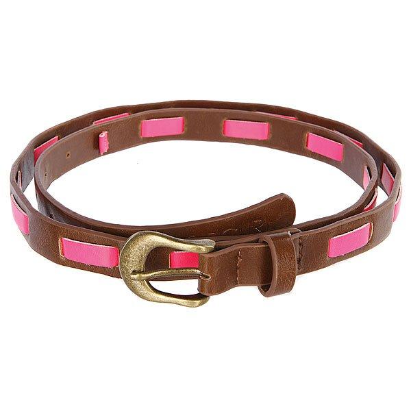 Ремень женский Rip Curl Playa Del Rey Belt Camel<br><br>Цвет: коричневый,розовый<br>Тип: Ремень<br>Возраст: Взрослый<br>Пол: Женский