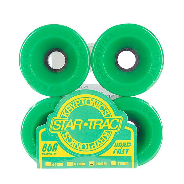 Колеса для скейтборда для лонгборда Kryptonics Star Trac Premium Green 86A 70mm