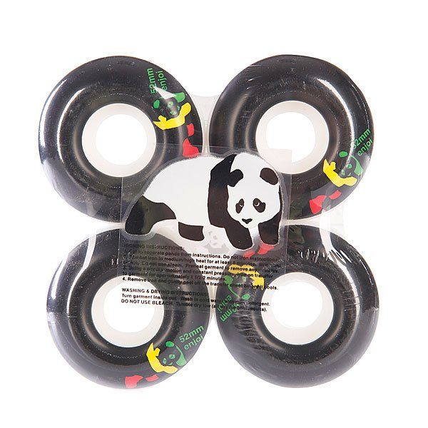 Колеса для скейтборда Enjoi Rasta Panda Standard Black 52mmКомплект колес для скейтборда от Enjoi с отличным сцеплением  и длительным сроком службы.Технические характеристики: В комплекте 4 колеса.Диаметр - 52 мм.Материал - полиуретан.Жесткость - 101А.Яркий дизайн в стиле Rasta.<br><br>Цвет: белый<br>Тип: Колеса