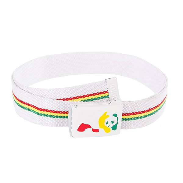 Ремень Enjoi Rasta Panda Web White fender blk lt grey