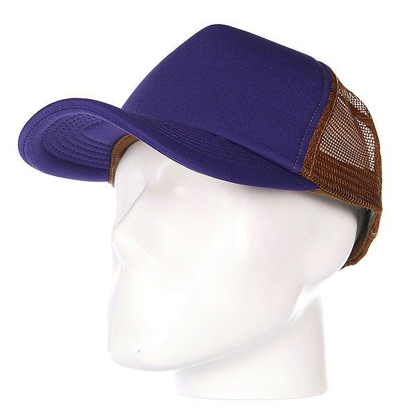 Бейсболка с сеткой True Spin Combo Trucker Purple/Beige<br><br>Цвет: коричневый,фиолетовый<br>Тип: Бейсболка с сеткой<br>Возраст: Взрослый<br>Пол: Мужской
