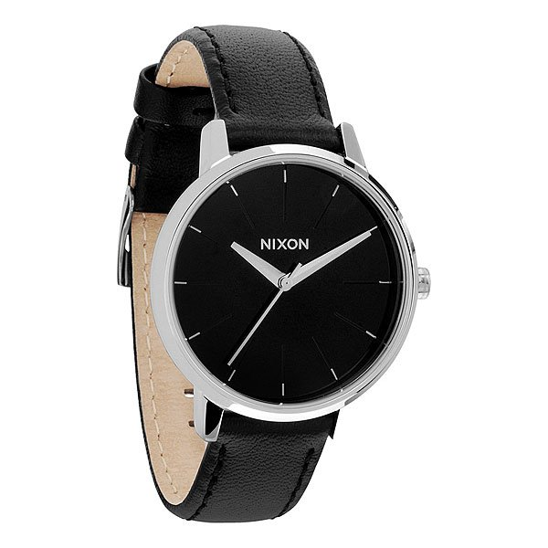 Часы женские Nixon Kensington Leather Black часы nixon re run leather all black