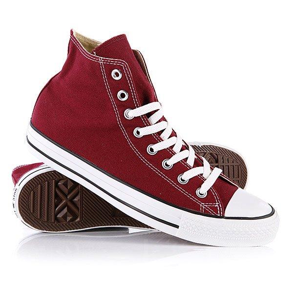 Кеды кроссовки высокие Converse All Star Hi Maroon