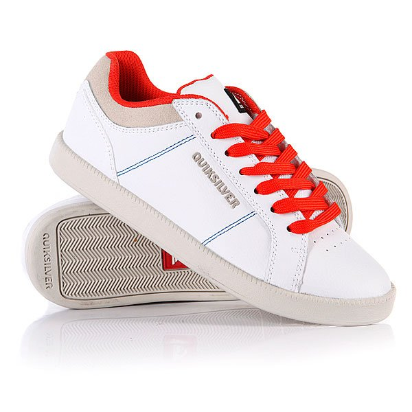 Кеды кроссовки детские Quiksilver Little Area 5 Action White/Grey/Orange Proskater.ru 1299.000